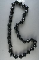 Shiny Knotted Black Bead Rope Necklace (Code 3182)